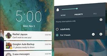 Tổng quan những điểm mới trên Android 5.0 Lollipop