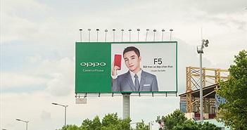 Oppo F5 xuất hiện trên quảng cáo ngoài trời ở TP.HCM, Sơn Tùng làm đại diện
