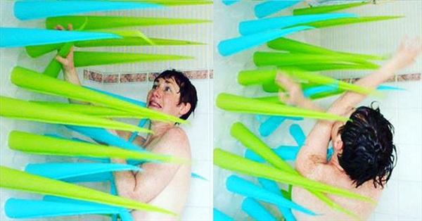 Phát minh kỳ dị giúp bạn tiết kiệm nước đáng kể khi tắm