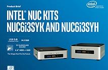 Intel ra mắt NUC chạy Skylake: tùy chọn i3 hoặc i5, GPU Iris, hai kích thước