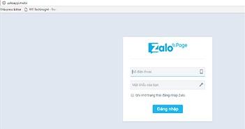 Mạo danh Zalo đánh cắp thông tin cá nhân