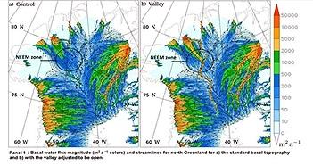 Sông Đen dài 1000 dặm chảy dưới vịnh Greenland