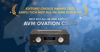 Editors' Choice Awards 2020 - AVM Ovation CS8.3 – Ampli tích hợp all-in-one của năm