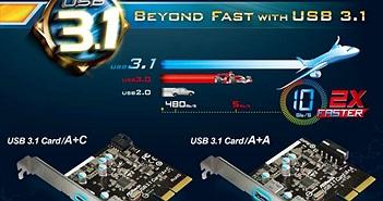 ASRock giới thiệu 2 card mở rộng PCIe và 2 bo mạch mới hỗ trợ cổng USB 3.1