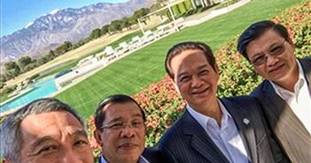 """Ông Lý Hiển Long khoe ảnh """"wefie"""" cùng Thủ tướng Nguyễn Tấn Dũng"""