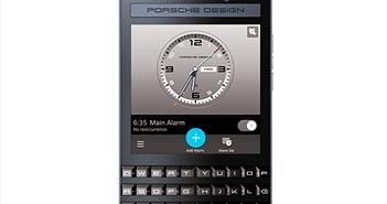 BlackBerry ra smartphone siêu sang Porsche Design P'9983 Graphite
