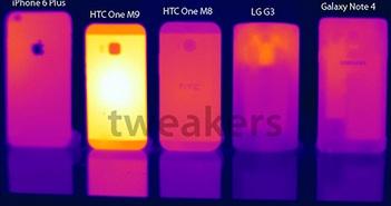HTC One M9 nóng gấp rưỡi Galaxy Note 4, iPhone 6 Plus
