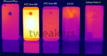 HTC One M9 tỏa nhiệt đến 55,4 độ C