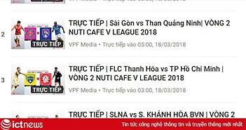 Lịch tường thuật trực tiếp V.League 2018 cuối tuần này (vòng 2)