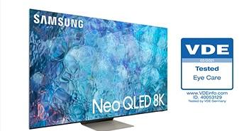 Samsung TV Neo QLED 2021 nhận được Chứng nhận về khả năng 'Bảo vệ mắt' đầu tiên từ Hiệp hội Điện, Điện tử và Công nghệ Thông tin (VDE)
