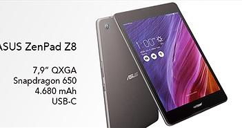 """ASUS ra mắt ZenPad Z8 dành cho mạng Verizon: 7.9"""", Snapdragon 650, USB-C"""