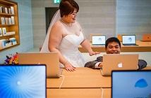 Đến Apple Store... chụp ảnh cưới