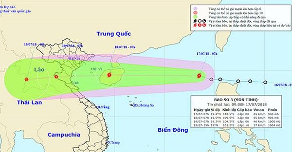 Áp thấp nhiệt đới mạnh lên thành bão số 3