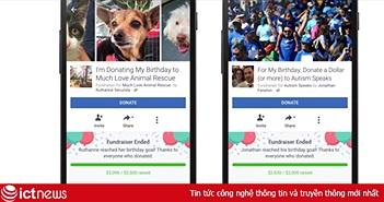 Facebook cho phép người dùng sử dụng ngày sinh nhật gây quỹ cho tổ chức phi lợi nhuận