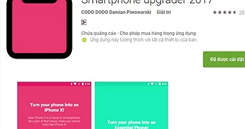 """Xuất hiện ứng dụng """"hô biến"""" máy Android thành iPhone X"""