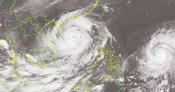 2 siêu bão nối đuôi nhau tiến vào biển Đông