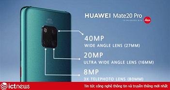 Chi tiết bộ tứ smartphone Huawei Mate 20 vừa ra mắt