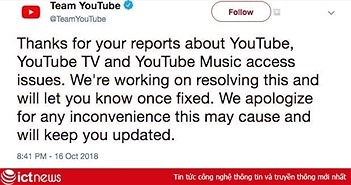 YouTube bị lỗi, nhiều khả năng do cập nhật  tính năng mới