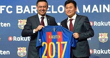Barca ký hợp đồng tài trợ khủng với Rakuten