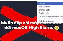 NÓNG: Hàng loạt tài khoản Facebook không thể xóa status cũ
