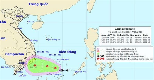 Bão Toraji suy yếu thành áp thấp nhiệt đới