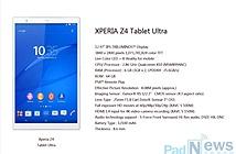 Máy tính bảng 12,9 inch của Sony lộ ảnh và cấu hình