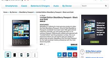 BlackBerry Passport sẽ có phiên bản màu Gold, giá 999$
