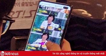 Galaxy S10+ lộ ảnh thực tế với camera selfie kép
