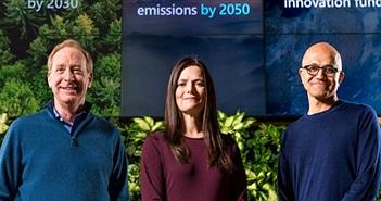 """Microsoft sẽ """"xóa bỏ"""" lượng khí CO2 đã thải ra môi trường hàng chục năm qua"""