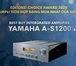 Editors' Choice Awards 2020 - Yamaha A-S1200- Ampli tích hợp đáng mua nhất của năm