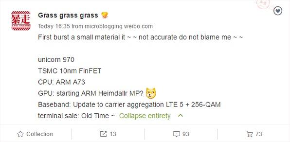 Hé lộ thông số chip Kirin 970 của Huawei