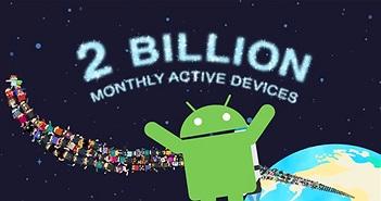 Thế giới đã có hơn 2 tỷ điện thoại Android đang hoạt động