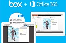 Microsoft Office Online đã cho chỉnh sửa, lưu file trực tiếp vào Box