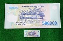 Tờ tiền 500.000 đồng cỡ khủng có giá 5 triệu
