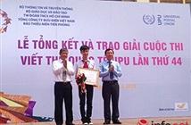 Việt Nam đạt giải Khuyến khích Cuộc thi Viết thư UPU lần 44 quốc tế