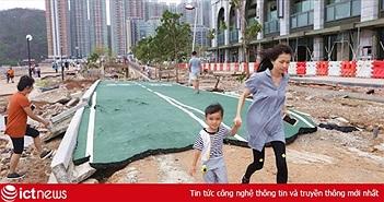 Chùm ảnh: Siêu bão Mangkhut cán nát tất cả trên hành trình của nó