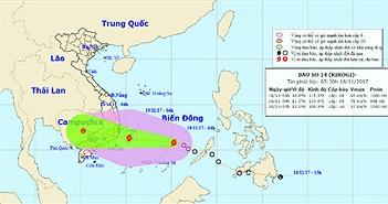 Áp thấp nhiệt đới mạnh lên thành bão số 14, ảnh hướng đến Nam Trung Bộ