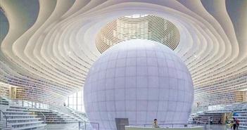 Bên trong thư viện sách khổng lồ tại Trung Quốc, diện tích tương đương 5 sân bóng đá