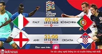 Lịch thi đấu UEFA Nations League trên Bóng đá TV và Onme tuần này