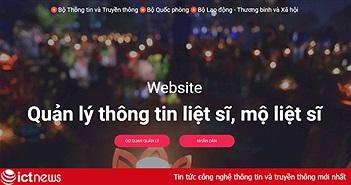 Ra mắt website quản lý thông tin liệt sỹ thongtinlietsi.gov.vn