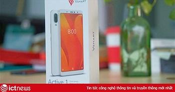 Mở hộp Vsmart Active 1, camera kép, giá bán 4,99 triệu đồng