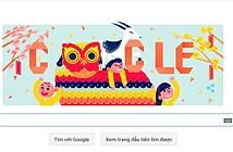 Google đón năm mới Ất Mùi với hình ảnh doodle cổ truyền