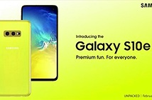 Galaxy S10e và tai nghe Buds sẽ có phiên bản màu vàng chanh