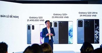 Galaxy S20 Series ra mắt tại Việt Nam: Giá từ 21 triệu đồng, quà tặng Galaxy Bud+ hấp dẫn