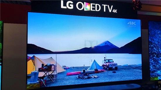 TV OLED của LG bị burn-in tại quầy trưng bày