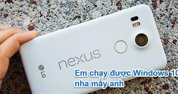 Nexus 5X có thể chạy tốt Windows 10 Mobile, ý tưởng dual-boot 2 OS lại được nhen nhóm