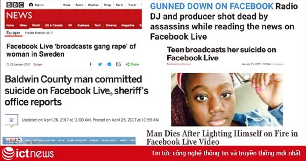 Bạo lực trên Facebook Live kinh khủng hơn những gì báo chí đang phản ánh