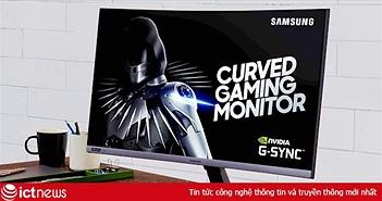 Samsung giới thiệu màn hình cong chơi game CRG5 240Hz tương thích với G-Sync