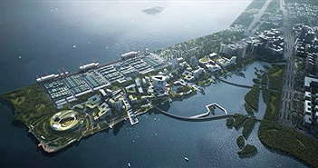 """Dự án """"thành phố tương lai"""" của Tencent: Rộng 2km2, không bóng ô tô, tận dụng phương tiện tự hành"""