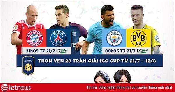 K+ độc quyền phát sóng giải bóng đá International Champions Cup 2018, mở mã xem miễn phí 2 ngày